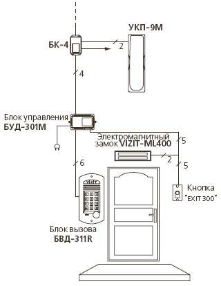 Схема подключения устройства.