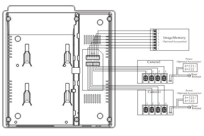 Схема подключения блока монитора.